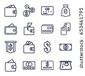 pay icons set. set of 16 pay... | Shutterstock .eps vector #653461795