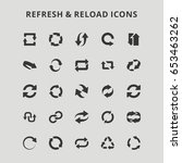refresh and reload icons   Shutterstock .eps vector #653463262