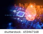 finger print scanning... | Shutterstock . vector #653467168
