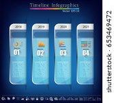 timeline infographic   business ... | Shutterstock .eps vector #653469472