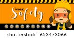 construction worker repairman ... | Shutterstock .eps vector #653473066