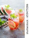 summer refreshing cocktails...   Shutterstock . vector #653475286
