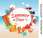 summer time background banner... | Shutterstock .eps vector #653476762