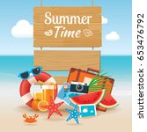 summer time background banner... | Shutterstock .eps vector #653476792