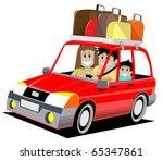 family trip | Shutterstock .eps vector #65347861