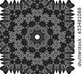 black and white pattern for... | Shutterstock . vector #653481088