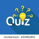 quiz flat concept. vector... | Shutterstock .eps vector #653481802