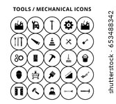 tools icons | Shutterstock .eps vector #653488342