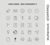 line mix icons | Shutterstock .eps vector #653495902