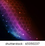 vector  abstract modern glowing ... | Shutterstock .eps vector #65350237