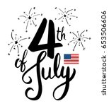 4th of july lettering for...   Shutterstock .eps vector #653506606