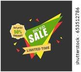 vector illustration sale poster ... | Shutterstock .eps vector #653512786