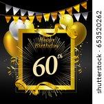 60 years anniversary... | Shutterstock .eps vector #653520262