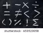 Set of math symbol draw by...