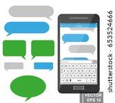 online sms communication via... | Shutterstock .eps vector #653524666