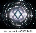 abstract background grey light... | Shutterstock . vector #653524696