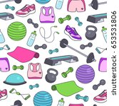 fitness kit vector seamless
