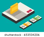 flat vector game console... | Shutterstock .eps vector #653534206