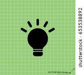 light sign ideas  web icon.... | Shutterstock .eps vector #653538892