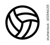 volleyball | Shutterstock .eps vector #653546155
