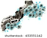 chinese traditional... | Shutterstock . vector #653551162