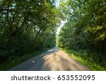 landscape with an empty road... | Shutterstock . vector #653552095