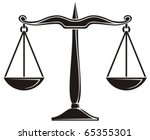 scales of justice | Shutterstock .eps vector #65355301