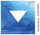 down arrow icon | Shutterstock .eps vector #653555095