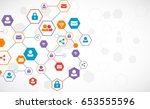 social media vector background. ... | Shutterstock .eps vector #653555596