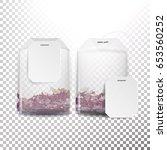 realistic tea bag mock up with... | Shutterstock .eps vector #653560252