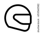 racing helmet | Shutterstock .eps vector #653560582