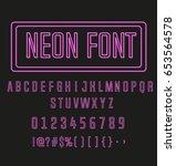 neon font | Shutterstock .eps vector #653564578