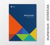 business brochure design | Shutterstock .eps vector #653565166