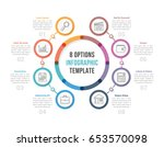 circle infographic template... | Shutterstock .eps vector #653570098