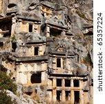 ruins in Turkey,Myra - stock photo