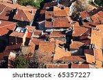Ancient city Afyonkarahisar,Turkey - stock photo