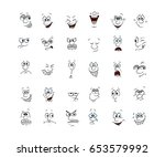 collection of 30 character... | Shutterstock .eps vector #653579992