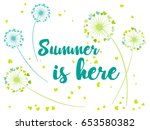 summer is here vector card with ... | Shutterstock .eps vector #653580382