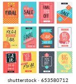 set of modern sale banners... | Shutterstock .eps vector #653580712
