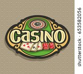 vector logo for casino club on... | Shutterstock .eps vector #653582056