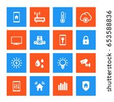 smart house vector icons