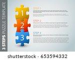one two three   vector progress ... | Shutterstock .eps vector #653594332