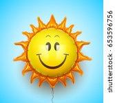 sun  balloon  sky  summer  heat ... | Shutterstock .eps vector #653596756