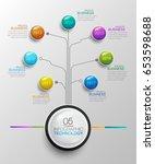 business timeline data...   Shutterstock .eps vector #653598688
