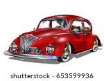 vintage car | Shutterstock .eps vector #653599936