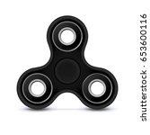 fidget finger toy. black color...   Shutterstock .eps vector #653600116