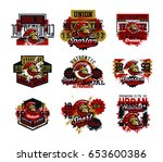 collection of vector... | Shutterstock .eps vector #653600386