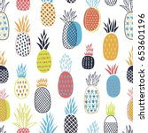 colorful seamless pattern with... | Shutterstock .eps vector #653601196