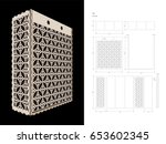 cut out template for three...   Shutterstock .eps vector #653602345