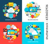 big data flat concepts. design... | Shutterstock .eps vector #653602936